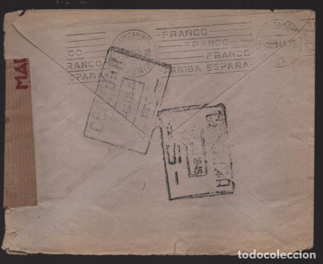 Sellos: CARTA CIRCULADA DE MALAGA A ESCOCIA- REVERSO- CENSURA S Y E - VER FOTOS,- - Foto 2 - 221095800
