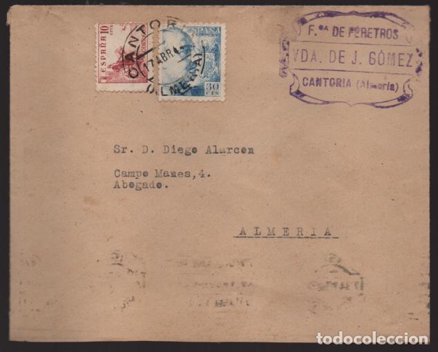 CANTORA- ALMERIA- CARTA COMERCIAL- VER FOTO (Sellos - España - Guerra Civil - Locales - Cartas)