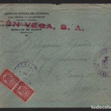 Sellos: CARTA BENALUA DE GUADIX,-GRANADA- SELLADO: SOCORRO ROJO INTERNACIONAL- VER FOTOS. Lote 221099107