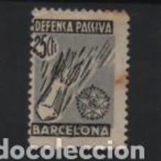 Sellos: BARCELONA, 25 CTS,- DEFENSA PASIVA.- VER FOTO. Lote 221102831