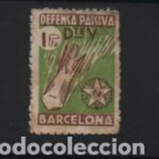 Sellos: BARCELONA, 1 PTA- DEFENSA PASIVA.- VER FOTO. Lote 221102921