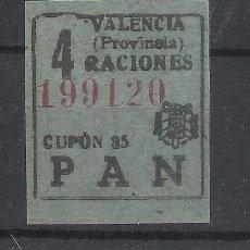 Sellos: VALENCIA 4 RACIONES PAN. Lote 221141121