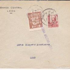 Sellos: F28-32- GUERRA CIVIL. CARTA LEÓN -LUGO 1937. LOCAL Y CENSURA. Lote 221327531