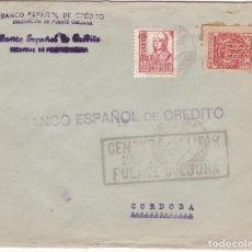 Sellos: F28-32- GUERRA CIVIL. CARTA FUENTE OBEJUNA -CORDOBAA 1937. LOCAL Y CENSURA (NO CATALOGADA). Lote 221327682