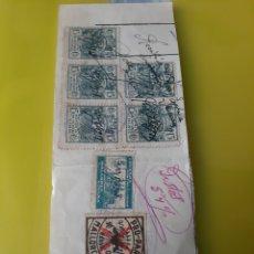 Sellos: MALLORCA PRO PARO /ESPECIAL FACTURAS 15 CÉNTIMOS 1938 /CRUZADA CONTRA FRIO. Lote 221335078