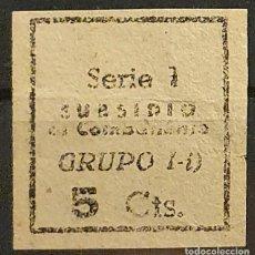 Sellos: GUERRA CIVIL. BARCELONA SUBSIDIDO AL COMBATIENTE. SERIE 1. Lote 221408513