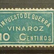 Sellos: GUERRA CIVIL. VINAROZ 5, 10 Y 20 CTS. Lote 221435393