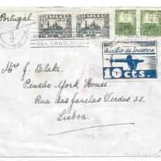 Sellos: AUXILIO DE INVIERNO ARQUERO. EDIFIL 806 - 681. DE SAN SEBASTIAN A LISBOA - PORTUGAL 1937. Lote 221442650