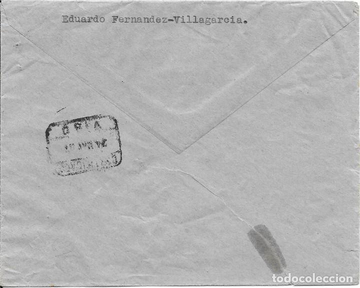 Sellos: AUXILIO DE INVIERNO AVE Y PAN. EDIFIL 806 - 823. DE VILLAGARCIA A SAN SEBASTIAN 1937 - Foto 2 - 221443212
