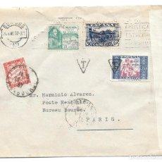 Sellos: CRUZADA CONTRA EL FRIO. EDIFIL 809. DE BURGOS A PARIS. TASADA 1937. Lote 221443651