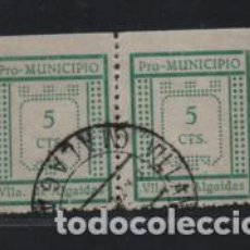 Sellos: VLLA. ALGAIDAS- MALAGA, 5 CTS, TIPO I Y TIPO II,PAREJA--PRO-MUNICIPIO- VER FOTO. Lote 221524523