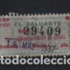 Sellos: U.G.T. 1,30 PTAS. -EL BALUARTE- FED. SIDEROMETALURGICA,- CON NUMERACION-AÑO 1937. VER FOTO. Lote 221524873