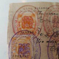 Sellos: ANTIGUO CARNET SERVICIO SANITARIO COLONIAL TERRITORIO DEL GOLFO DE GUINEA CON SELLOS Y VIÑETAS 1952. Lote 221601133