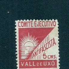 Sellos: V1-12 GUERRA CIVIL VALL DE UXO COMITE EJECUTIVO ANTIFASCISTA FESOFI Nº 3 FIJASELLOS.. Lote 221625162