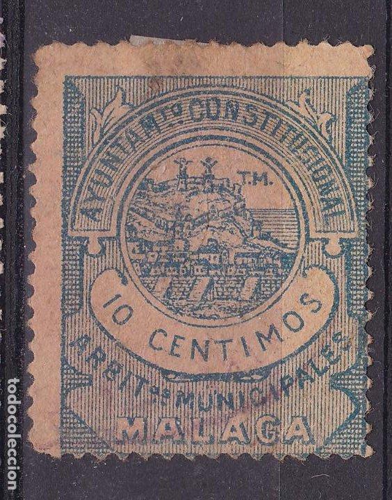 JJ5- FISCALES LOCALES .ARBITRIOS MUNICIPALES MALAGA 10 CTS (Sellos - España - Guerra Civil - Viñetas - Nuevos)