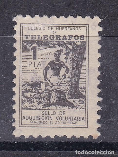LL8- BENÉFICOS TELEGRAFOS 1 PTA . FORMATO MINI 15 X 21 MM (Sellos - España - Guerra Civil - Viñetas - Nuevos)