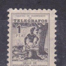 Sellos: LL8- BENÉFICOS TELEGRAFOS 1 PTA . FORMATO MINI 15 X 21 MM. Lote 222009638