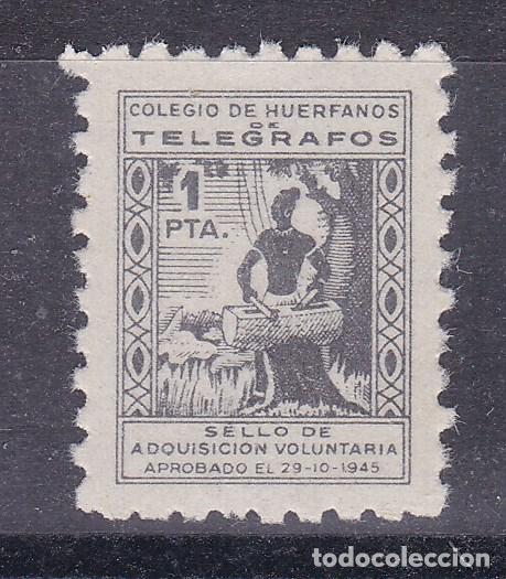 LL8- BENÉFICOS TELEGRAFOS 1 PTA . FORMATO MINI 15 X 18 MM ** SIN FIJASELLOS (Sellos - España - Guerra Civil - Viñetas - Nuevos)