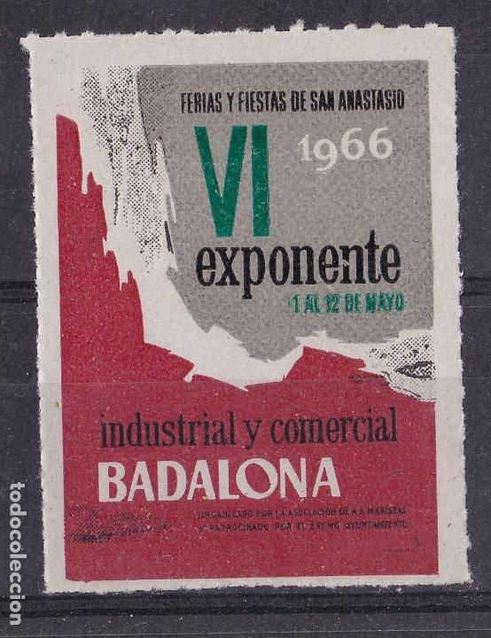 LL10-VIÑETA FERIAS Y FIESTAS DE SAN ANASTASIO BADALONA 1966 ** SIN FIJASELLOS (Sellos - España - Guerra Civil - Viñetas - Nuevos)