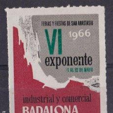 Sellos: LL10-VIÑETA FERIAS Y FIESTAS DE SAN ANASTASIO BADALONA 1966 ** SIN FIJASELLOS. Lote 222076676