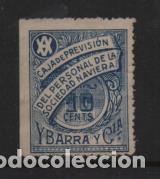 YBARRA Y CIA. 10 CTS- CAJA DE PREVISION.- VER FOTO (Sellos - España - Guerra Civil - Viñetas - Usados)