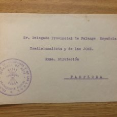 Sellos: FRONTAL FRANQUICIA FALANGE AOIZ ( NAVARRA). Lote 222098562