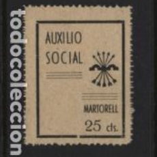 Sellos: MARTORELL. 25 CTS. -AUXILIO SOCIAL- VER FOTO. Lote 222099048