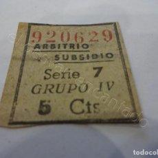Sellos: ARBITRIO SUBSIDIO AL COMBATIENTE. 5 CTS.. Lote 222105775