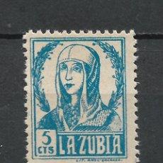 Sellos: ESPAÑA GUERRA CIVIL - LA ZUBIA ** MNH - 17/37. Lote 222122931