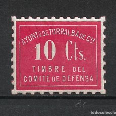 Sellos: ESPAÑA GUERRA CIVIL - TORRALBA ** MNH - 17/37. Lote 222123555