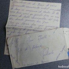 Sellos: GUERRA CIVIL ALMUDEVAR HUESCA CARTA 1937 FRANQUICIA ESCUDO REPUBLICANO Y CENSURA - TEXTO. Lote 222145575