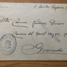 Sellos: FRANQUICIA MILICIA FALANGE PRIMERA LÍNEA GRANADA 1938. Lote 222201598