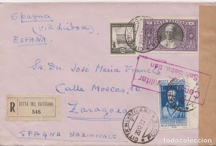 VATICANO - CENSURA MILITAR DE SAN SEBASTIAN (Sellos - España - Guerra Civil - De 1.936 a 1.939 - Cartas)