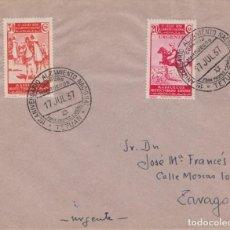 Sellos: CARTA URGENTE - 1º ANIVERSARIO DEL ALZAMIENTO NACIONAL - TETUAN. Lote 222225423