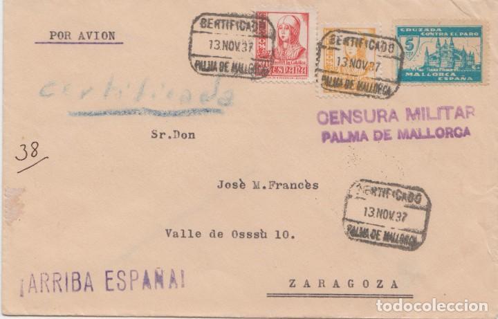 CENSURA MILITAR DE PALMA DE MALLORCA (Sellos - España - Guerra Civil - De 1.936 a 1.939 - Cartas)