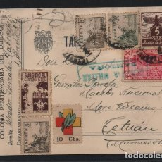 Sellos: POSTAL- COLONIA PENITENCIARIA DEL DUESO.-C.M. ONTOÑA- A TETUAN- VER FOTOS. Lote 222228802