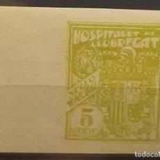 Sellos: AYUNTAMIENTO HOSPITALET DE LLOBREGAT. VERDE AMARILLO. 5 CTS. SIN DENTAR. Lote 222251035