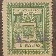 Sellos: AYUNTAMIENTO HUESCA. 8 PTAS. Lote 222283105