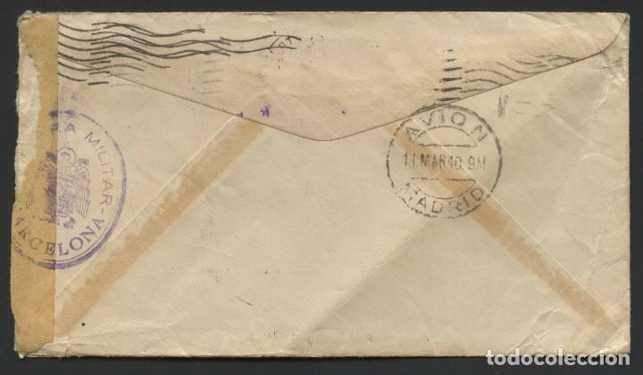 Sellos: GUERRA CIVIL POST, SOBRE, CORREO AÉREO VIA MADRID, CIRCULADO DESDE TEXAS A BARCELONA, 1940 - Foto 2 - 222532976