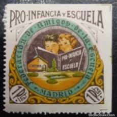 Sellos: MADRID. EDIFIL 64 *. 1 PTA MULTICOLOR PRO INFANCIA Y ESCUELA.. Lote 222549760
