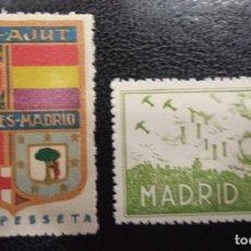 Sellos: MADRID. EDIFIL 60 Y EDIFIL 97 *. LOTE DE DOS SELLOS REPUBLICANOS.. Lote 222592406