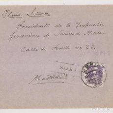 Sellos: SOBRE. SORIA. CENSURA MILITAR. A SANIDAD MILITAR. MADRID. 1939. Lote 222717248