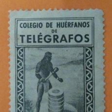 Sellos: VIÑETA COLEGIOS DE HUÉRFANOS DE TELÉGRAFOS APORTACIÓN VOLUNTARIA 10 CTS. Lote 222720485