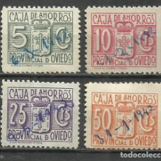 Sellos: 7230-SERIE COMPLETA SELLOS FISCALES CORPORATIVOS OVIEDO ASTURIAS,CAJA DE AHORROS PROVINCIAL DE OVIED. Lote 222732205