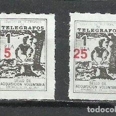 Sellos: 952-COLEGIO DE HUERFANOS DE TELEGRAFOS,CORREOS FISCALES SOBRECARGA DIFERENTE 2 HABILITACIONES NUEVO. Lote 222732211