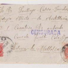 Sellos: SOBRE. BAENA, CÓRDOBA. A UN SOLDADO EN MALLORCA, BALEARES.1937. LOCAL Y CENSURA MILITAR. Lote 222842401
