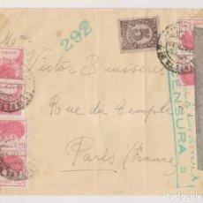 Sellos: SOBRE. BARCELONA A FRANCIA. CENSURA MILITAR REPUBLICANA. CURIOSO FRANQUEO. 1938. Lote 222843857