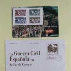 Sellos: LA GUERRA CIVIL EN SELLOS DE CORREOS - ZUMALÁCARREGUI 1937 - EDICION 70 ANV. EL MUNDO - CORREOS. Lote 223628130