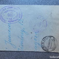 Timbres: GUERRA CIVIL CARLISTAS EN MOLINA DE ARAGÓN AÑO 1937 SELLOS EN TINTA TERCIO REQUETÉ ARAGONÉS RARO. Lote 223743307