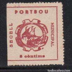 Sellos: SEGELL MUNICIPAL. PORTBOU. GERONA. 5 C. ROSA ANARANJADO. (AL.1). Lote 223859170